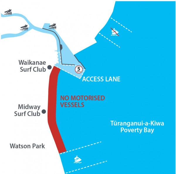 Jet ski Gisborne Map