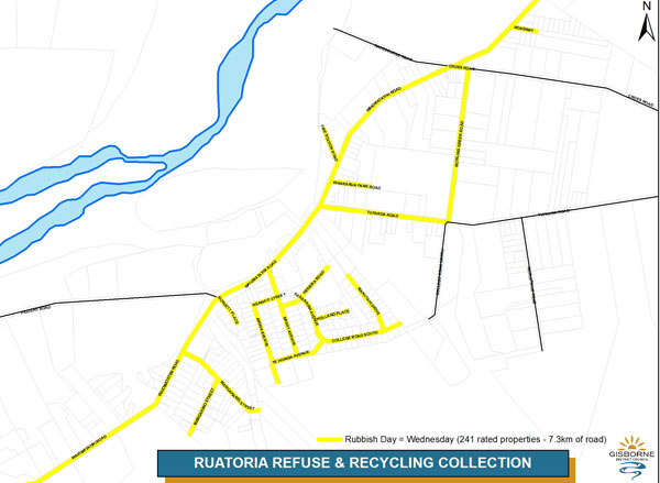 Ruatoria kerbside collection map