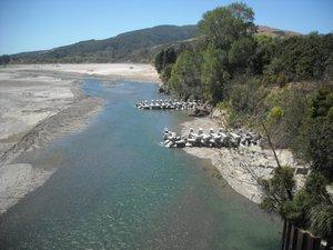 Waiapu River with groynes