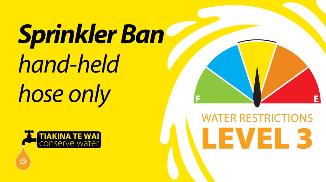Level 3 water restrictions