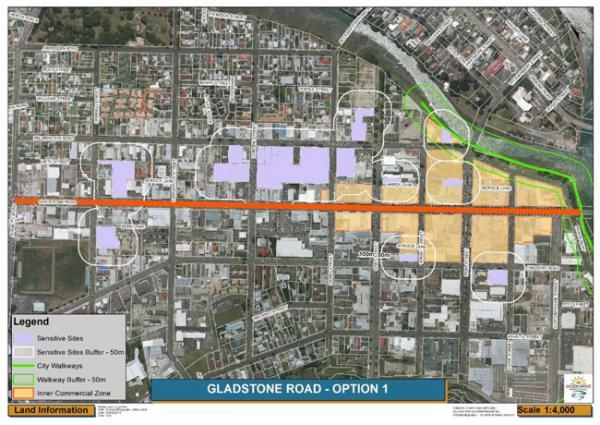 Gladstone Road map
